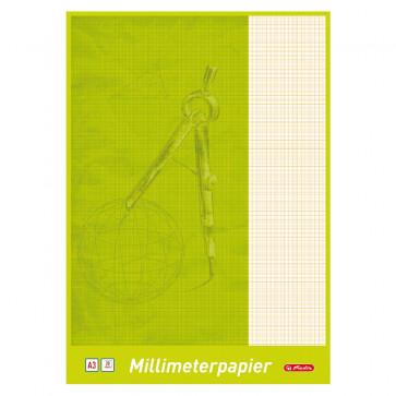 Hartie milimetrica, A3, 80 g/mp, 20 coli/set, HERLITZ