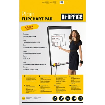 Hartie pentru flipchart, 65 x 95cm, 70 g/mp, velina, 20 coli/set, BI-OFFICE