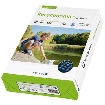 Hartie reciclata A4, 80 g/mp, 500 coli/top, PAPYRUS Recyconomic PureWhite