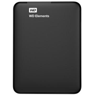 HDD Drive, 1TB, USB 3.0, negru, WD Elements Portable WDBUZG0010BBK