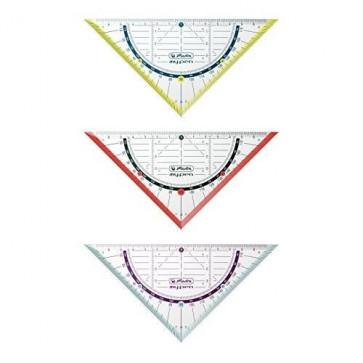 Echer, 45° si raportor 16cm, diferite culori, HERLITZ my.pen