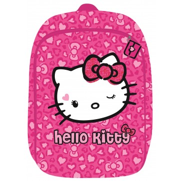 Ghiozdan, clasele 1-4, roz, 2 fermoare, HELLO KITTY