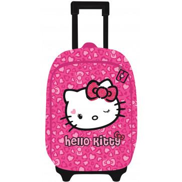 Ghiozdan troller, clasele 1-4, roz, PIGNA Hello Kitty
