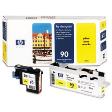 Cartus, yellow, printhead, nr. 90, HP C5057A