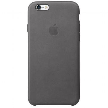 Husa de protectie APPLE Case pentru iPhone 6s, Piele, Gri