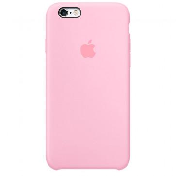 Husa de protectie Apple Silicone Case pentru iPhone 6s Plus, Light Pink