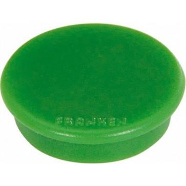 Magnet rotund, verde, 10 buc/set, 13mm, FRANKEN