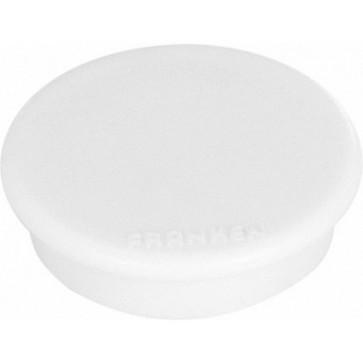 Magnet rotund, alb, 10 buc/set, 13mm, FRANKEN