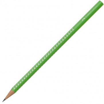 Creion cu mina grafit, B, verde, FABER CASTELL Sparkle