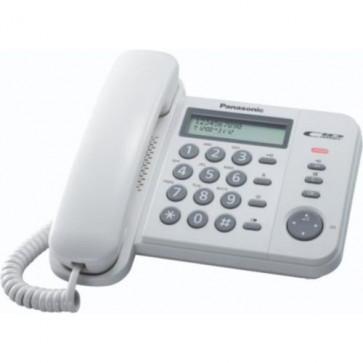 Telefon analogic PANASONIC KX-TS560FXW, alb, cu fir