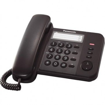 Telefon analogic PANASONIC KX-TS520FXB, negru, cu fir