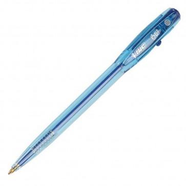 Pix cu mecanism, 1.0mm, albastru, BIC Bu2
