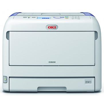 Imprimanta laser color OKI LED C822dn, A3, USB, Retea, Duplex