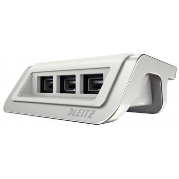 Incarcator cu trei porturi USB, alb arctic,  Leitz Style