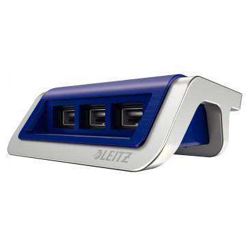 Incarcator cu trei porturi USB, albastru violet, Leitz Style