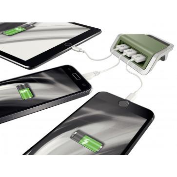 Incarcator cu trei porturi USB, Fistic, Leitz Style