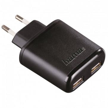 Incarcator universal, 2 x USB, 5V/4.8A, black, HAMA Auto-Detect