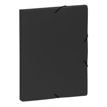 Mapa din plastic, A4, negru, cu elastic, VIQUEL Coolbox