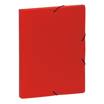 Mapa din plastic, A4, rosu, cu elastic, VIQUEL Coolbox