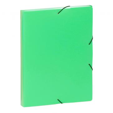 Mapa din plastic, A4, verde, cu elastic, VIQUEL Coolbox