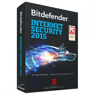 Internet Security 2015, 1 an, 3 utilizatori, Box, BITDEFENDER