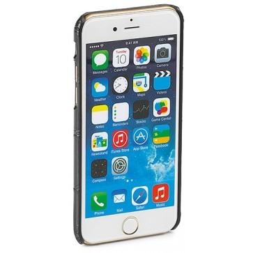 Carcasa iPhone 6, negru, textura piele de crocodil, FEDON