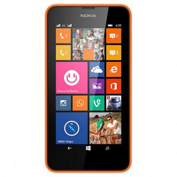 "Smartphone Dual Sim, 4.5"""", 5MP, 4G, Wi-Fi, Bluetooth, Orange, NOKIA Lumia 630"