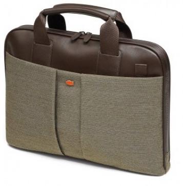 Geanta pentru laptop, olive, din piele de bovina si textil, FEDON Jazz File-Doc