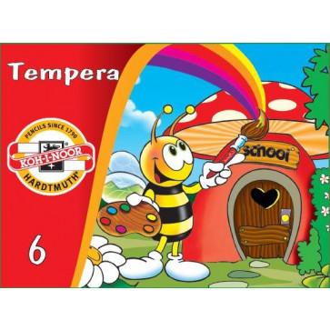 Tempera 6 culori/set, KOH-I-NOOR Bees