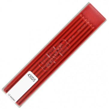 Mine pentru creion 2mm, rosu, 12 buc/etui, KOH-I-NOOR