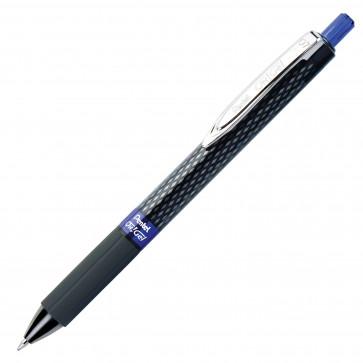 Roller cu gel, cu mecanism, 0.7mm, albastru, PENTEL OH!Gel