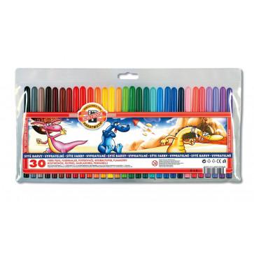 Carioci, 30 culori/set, KOH-I-NOOR Monstrii Spatiali