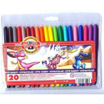 Carioci, 20 culori/set, KOH-I-NOOR Monstrii Spatiali