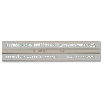 Sablon litere/cifre, 14mm, tip 901, KOH-I-NOOR