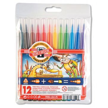 Carioci, 12 culori/set, KOH-I-NOOR Paint Fun Monstrii Spatiali