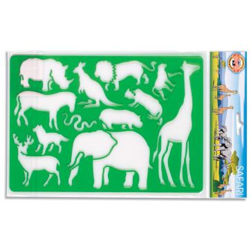 Sablon 12 animale safari, KOH-I-NOOR