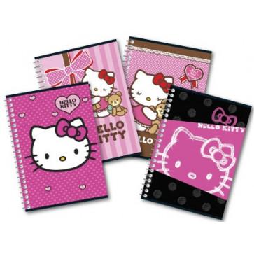 Caiet A5 matematica, cu spira, 80 file, PIGNA Premium - Hello Kitty