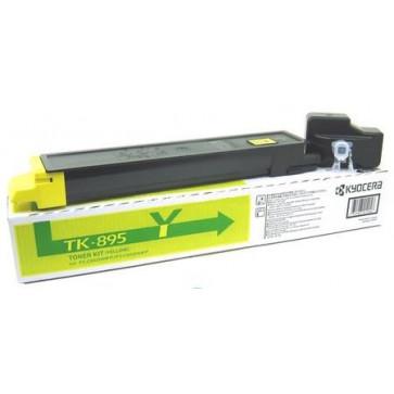 Toner, yellow, 6000 pagini, KYOCERA TK-895Y