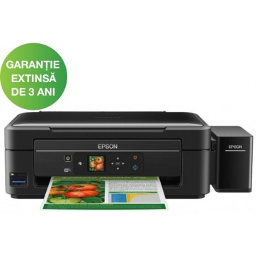 Multifunctional inkjet color EPSON L455 CISS, A4, USB, Wi-Fi