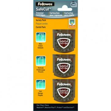Lame pentru trimmere, 3 tipuri/set, FELLOWES SafeCut Cartridges