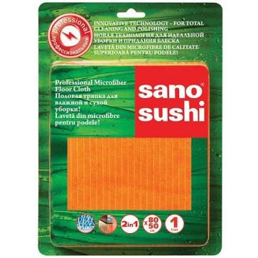 Laveta din microfibre pentru pardoseli, 80 x 50cm, SANO Sushi Microfiber Professional