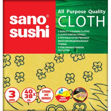 Laveta uscata universala, 3 buc/set, SANO Sushi Cloth