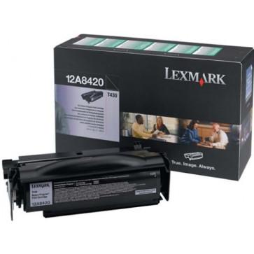 Toner, black, LEXMARK 12A8420