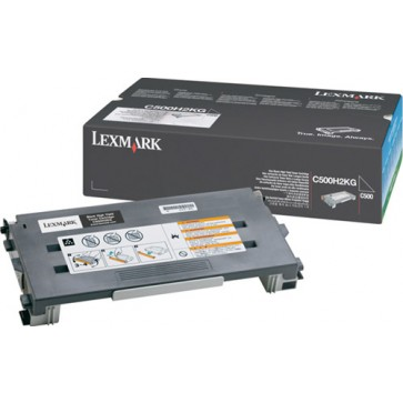 Toner, black, LEXMARK C500H2KG