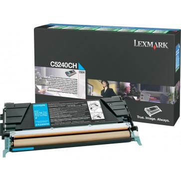 Toner, cyan, LEXMARK C5240CH