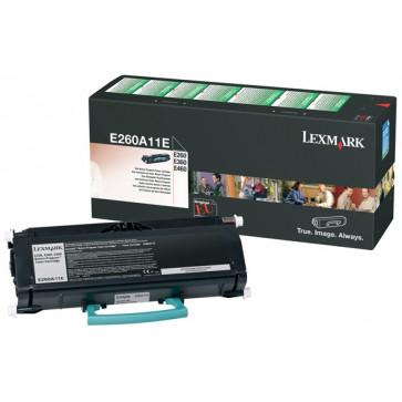 Toner, black, LEXMARK E260A11E