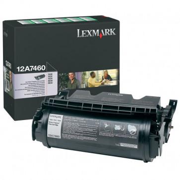 Toner, black, LEXMARK 12A7460