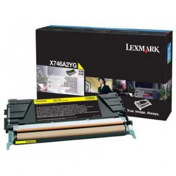 Toner, yellow, LEXMARK X746A2YG