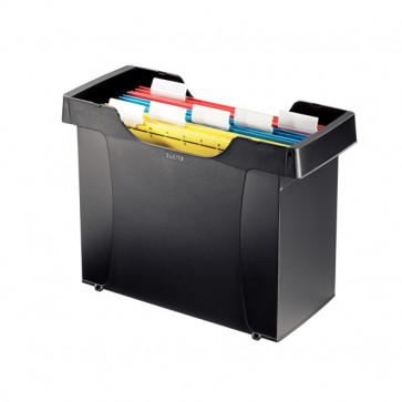 Suport pt. dosare suspendabile, (8 dosare suspendabile incluse),negru, LEITZ Plus
