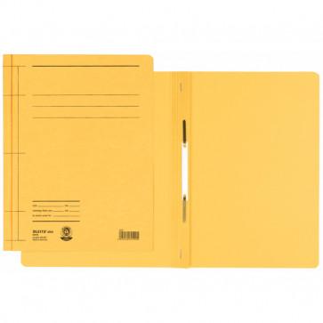 Dosar din carton, cu sina, 250 g/mp, galben, LEITZ